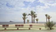 Seafront promenade of Benidorm time lapse