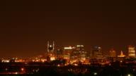 Seamless loop lower third downtown Nashville at night HD