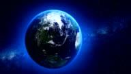 Nahtlose loop Erde im Weltall