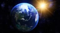 Nahtlose loop rotierende Erde mit