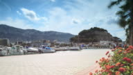 Seaport and Castle of Denia time lapse
