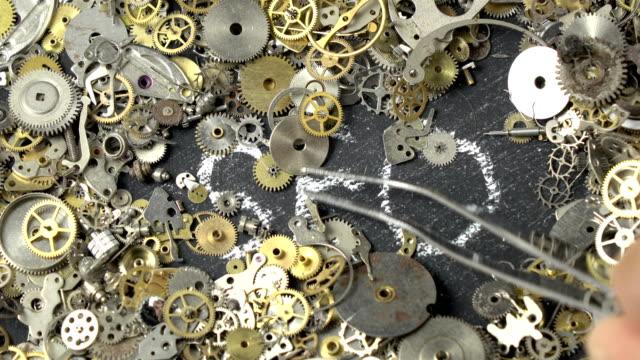 Search Engine Optimization Concept Via Clockwork Parts