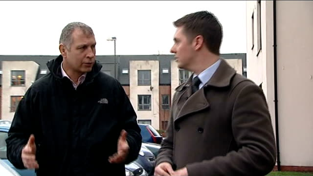 Search for missing boy Mikaeel Kular continues SCOTLAND Edinburgh EXT Reporter along street with Mark WilliamsThomas