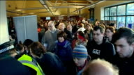 Search for missing boy Mikaeel Kular continues SCOTLAND Edinburgh INT Members of public gathered in hall police officer handing out leaflets to them...