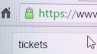 Searching for online tickets