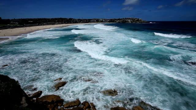 Seascape of Bondi Beach in Sydney