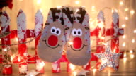Seasonal winter socks by th Christmas decoration