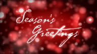 Season's Greetings on Red