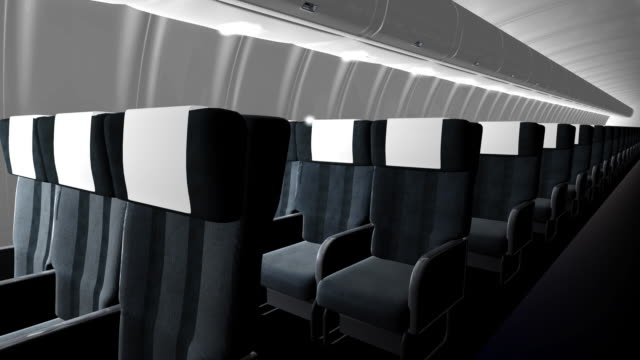 Seats in Commercial airliner cabin