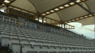LA WS PAN Seats in empty stadium/ Sheffield, England