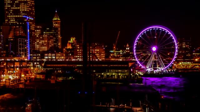 Seattle cityscape  time lapse