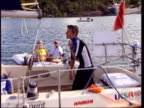 Seb Clover returns to school LIB Seb Clover on board yacht at end of voyage