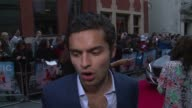 INTERVIEW Sebastian de Souza on the storyline and Alfie Allen at 'Plastic' UK film premiere at Odeon West End on April 29 2014 in London England
