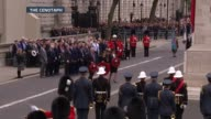 Second World War ITV VE Day 70th Anniversary Special PAB **Music heard SOT** Various of David Cameron Nick Clegg and Ed Miliband laying wreaths and...