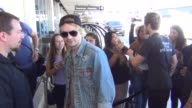 5 Seconds Of Summer departing at LAX Airport in Los Angeles in Celebrity Sightings in Los Angeles