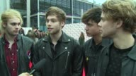 Seconds of Summer on the awards filming and online feedback at SSE Arena on November 08 2015 in London England