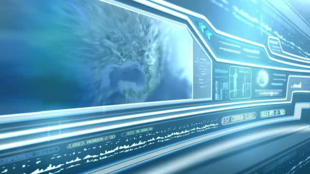 Secret service. Futuristic touch screen