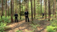 Secret UFO files released by the Ministry of Defence ENGLAND Surrey EXT Reporter to camera Low angle view of tree tops Ruth Novelli speaking to...