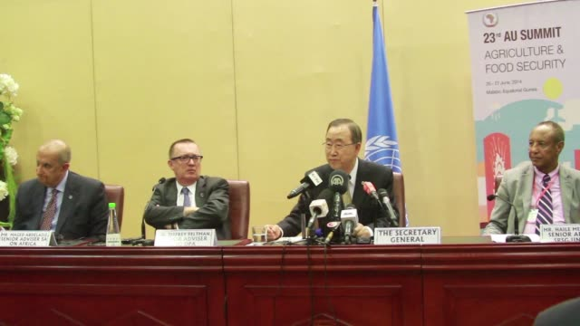 UN Secretary General Ban Ki moon urges Egypt to respect journalists and freedom of expression at an African Union summit