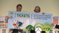 Secretary General Jerome Valke on Wednesday at a press conference in Sao Paulo handed over 50000 complimentary tickets for the 2014 FIFA World Cup to...