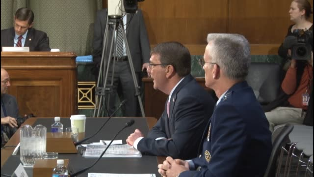 Secretary of Defense Ashton Carter repeats a claim made the week before at a House hearing before the Senate Armed Services Committee that the United...