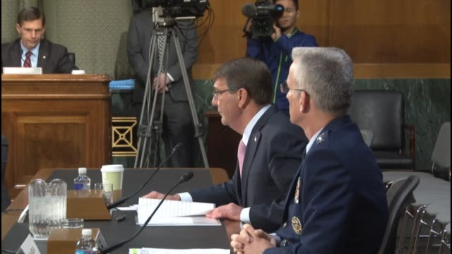 Secretary of Defense Ashton Carter tells members of the Senate Armed Services Committee that attacks in Paris and San Bernardino California are an...