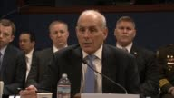 Secretary of Homeland Security John Kelly tells New York Representative Kathleen Rice at a hearing on border security that reports that he had not...