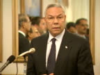 US Secretary of State Colin Powell talks about US relationships with Pakistan after the 9/11 terrorist attacks