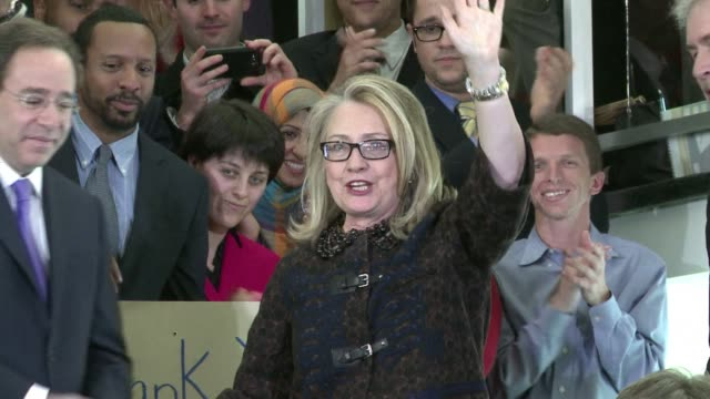 Secretary of State Hillary Clinton bade farewell to her staff Friday on her final day as Americas top diplomat that was marred by the latest in a...