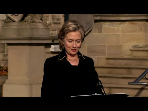 US Secretary of State Hillary Clinton tells press that she is looking forward to opening City Hall during visit to region Northern Ireland 12 October...