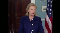 US Secretary of State Hillary Clinton warns of the risk of escalation in the Middle East amid reports that Syrian forces raided a village bordering...
