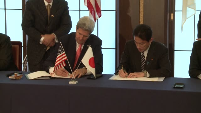 US Secretary of State John Kerry and US Secretary of Defense Chuck Hagel stress the importance of strengthening the security alliance with Japan...