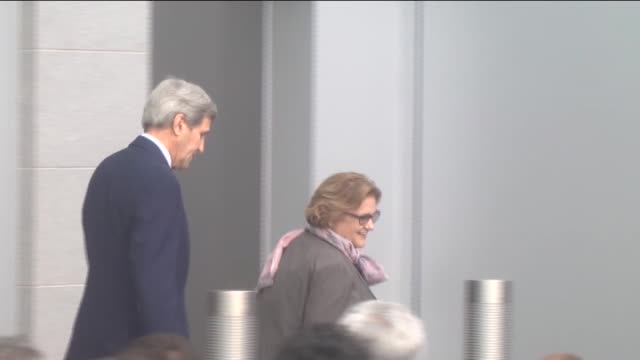 Secretary of State John Kerry attends opening ceremony of new building of US Embassy in Bishkek Kyrgyzstan on October 31 2015 Kerry is on an official...