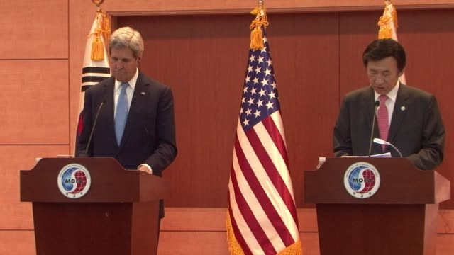 US Secretary of State John Kerry calls for increased pressure on North Korea as he slams Kim JongUn's egregious leadership and grotesque executions...
