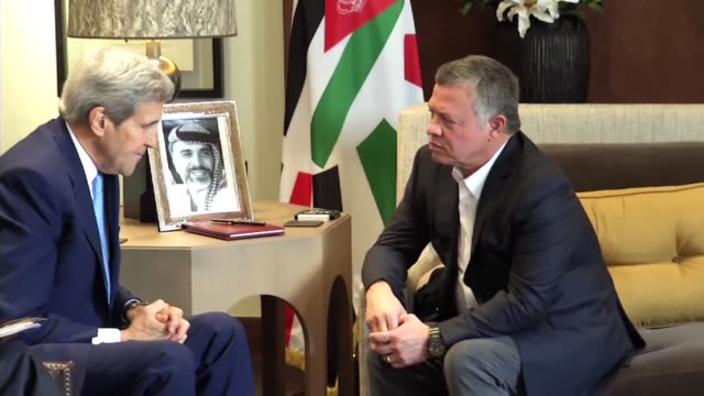 US Secretary of State John Kerry met Jordans King Abdullah II on Saturday shortly after holding talks with Palestinian president Mahmud Abbas on...