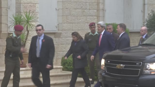US Secretary of State John Kerry met with Israeli and Palestinian leaders on Thursday in a visit aimed at driving forward peace negotiations which...