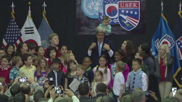 US Secretary of State John Kerry stops by at US Army Garrison Yongsan Base in Seoul during his second day visit to South Korea