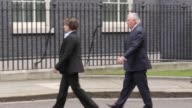 US Secretary of State Rex Tillerson arrives at Downing Street to meet Prime Minister Theresa May where they will hold a bilateral meeting