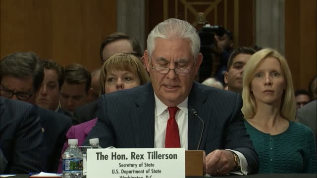 Secretary of State Rex Tillerson statement to Senate panel on authorizing military force outlines the three requirements of the Trump administration...