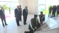 SecretaryGeneral Antonio Guterres attends a wreath laying ceremony at the tomb of the late Palestinian leader Yasser Arafat in the West Bank city of...