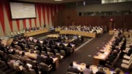 SecretaryGeneral Ban Kimoon speaks next to Permanent Representative of Bosnia and Herzegovina to the United Nations Mirsada Colakovic during...