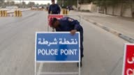 Security Check points put in place during civil unrest in Bahrain