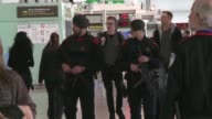Security has been tightened at Barcelona airport in the wake of deadly terror attacks in Brussels