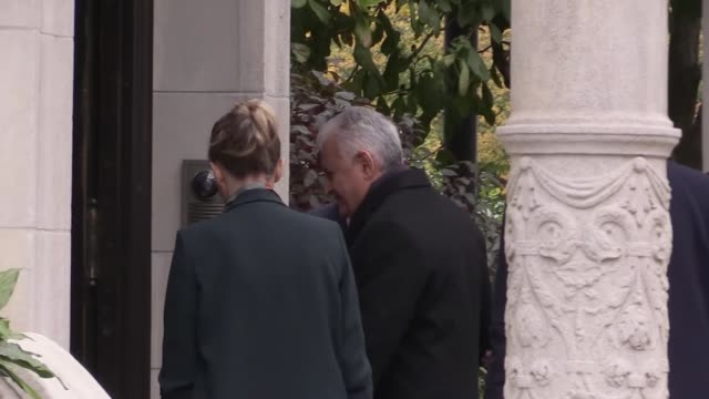 Security measures are tightened outside the Turkish Ambassador's residence as Turkish Prime Minister Binali Yildirim and Foreign Minister Mevlut...