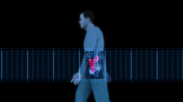 Security X-Ray Scanner - Man with Gun (HD)