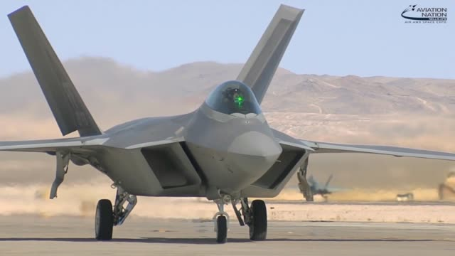 See the F22 Raptor at the Aviation Nation Air and Space Expo Nevada