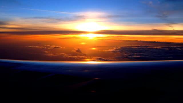 Seeing the sunset on my flight