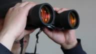 Seen through a telescope