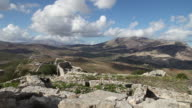 Segesta, general view of the theater and the valley