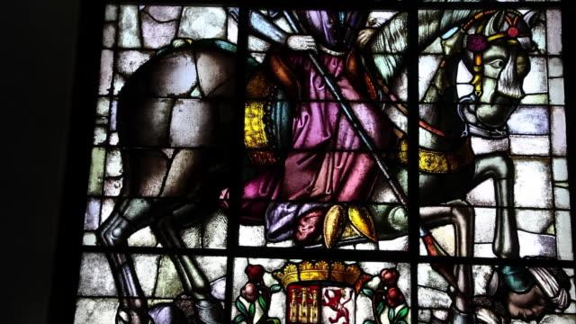 Segovia Alcazar, Throne Room, Stained-Glass Window, Segovia, Spain